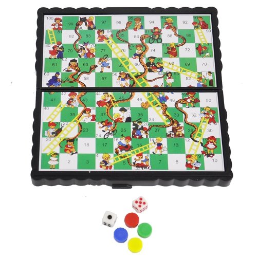 ViVo© Mini Snakes and Ladders Pocket Magnetic Travel and Table Top Desk Games Stocking Fillers Xmas Present