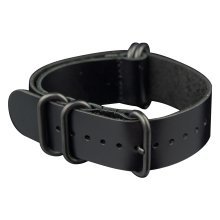 INFANTRY® Geniune Black Leather Watch Band Strap Bracelet