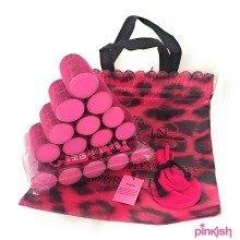 Sleep In Rollers Soft Foam Pink Leopard + Hair Dryer Hood + Clips + DVD