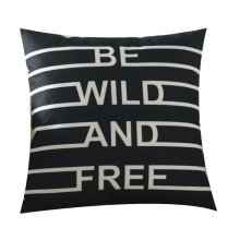 Line letter Black Multi-functional Cotton and Small Pillow