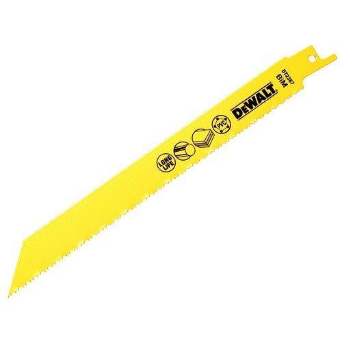 DeWalt DT2387-QZ Bi Metal Sabre Blade for Plastic and Pipes 203mm Pack of 5