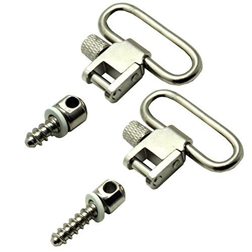 "1"" Quick Release Rifle Sling Nickel Swivels & Wood Screw Studs Gun/Air Rifle"