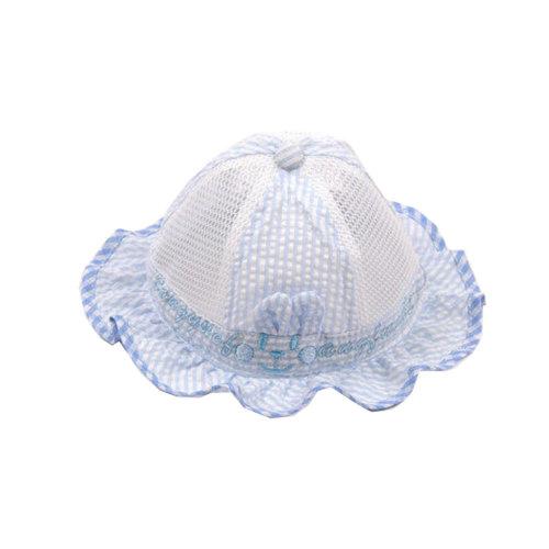 Cute Baby Sun Protection Hat Infant Floppy Cap Cotton Sun Hat 0-3-6 months  Blue on OnBuy 5195e3cd23f