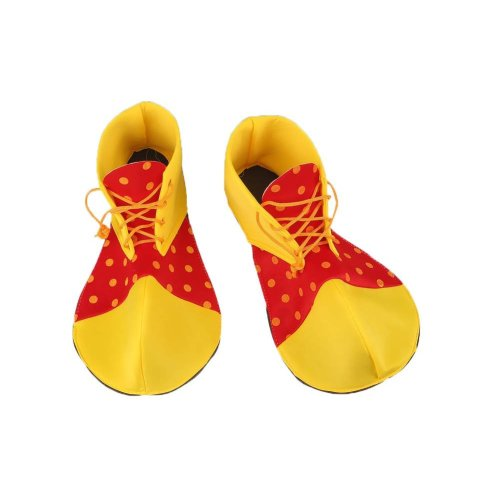 Cloth Clown Shoes Pretend Games Shoes For Adults Party Clown Costume Supplies, Yellow and Red