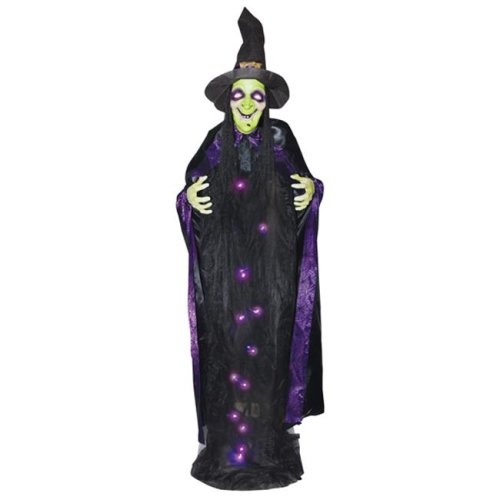 Morris SS74164 6 ft. Witch with Sound Lightup Hang
