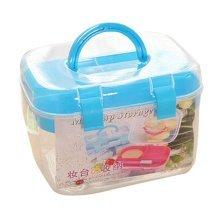 Multilayer Handheld Family Medicine Cabinet First Aid Kit Storage Box Blue