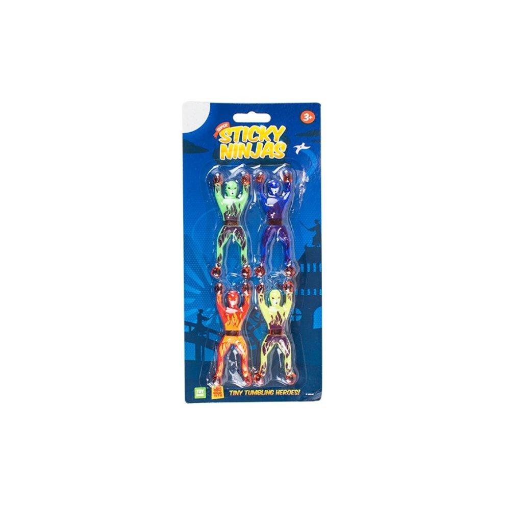 4 x Ninja Tumbling Window Climbers Toy Stocking Filler Gift Present Party Bag