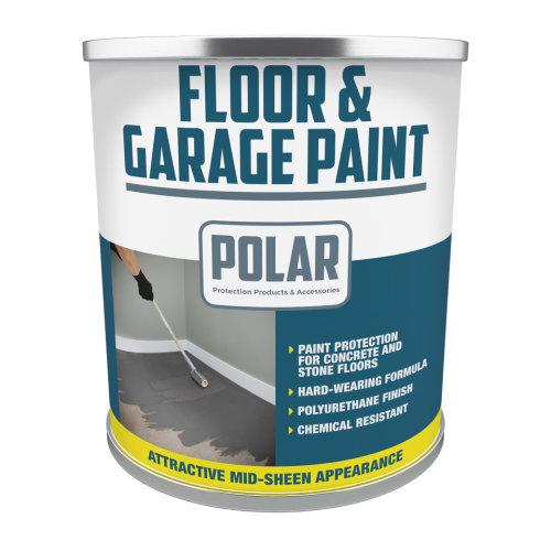Polar 5L Floor & Garage Paint - Grey   Heavy Duty Floor Paint