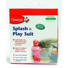 Clippasafe Splash & Play Toddler Wet Suit (red 90cm)