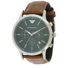 Emporio Armani Leather Chronograph Mens Watch AR2493