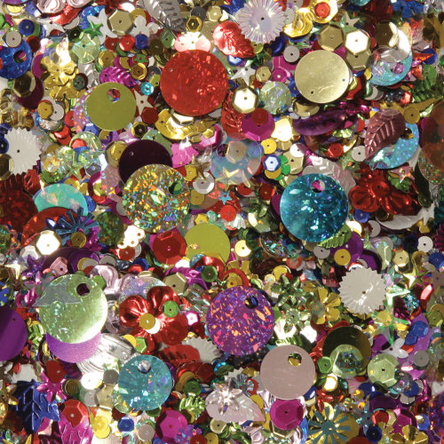 Sequins & Spangles 4oz-Assorted Shapes & Colors