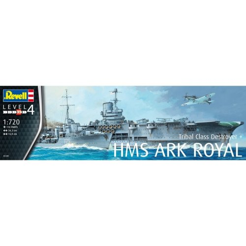 Rv05149 - Revell 1:720 Hms Ark Royal & Tribal Class Destroyer