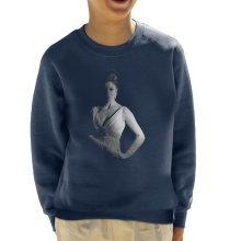 Joan Collins On Set Of Quest 1970 Kid's Sweatshirt