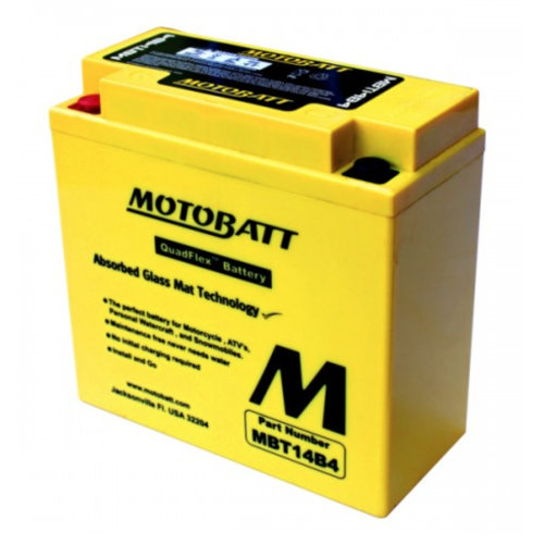 Motobatt MBT14B4 AGM Motorcycle Battery (YT14B-4)