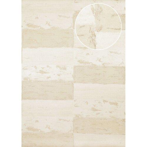 Atlas ICO-5072-1 Stone tile wallpaper shimmering grey-beige gold 7.035 sqm