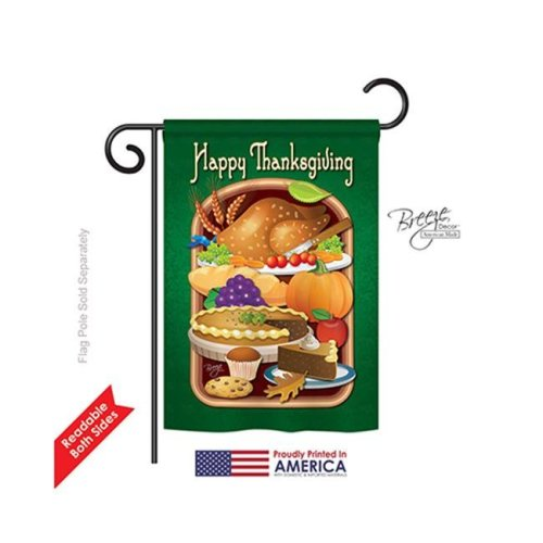 Thanksgiving Thanksgiving Feast 2-Sided Impression Garden Flag - 13 x 18.5 in.