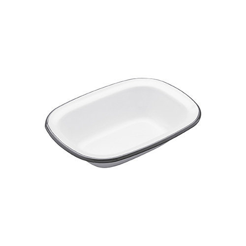 Kitchen Craft 18 x 13.5 x 4 cm Living Nostalgia Enamel Oblong Pie Dish