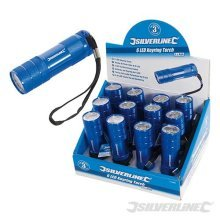 Silverline LED Torch Display Box 12pce 6 LED - 31988 -  led silverline torch display box 12pce 6 319886