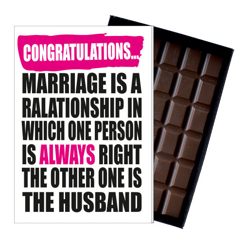 Wedding Congratulations Gift Cute Fuuny Chocolate Present for Marriage