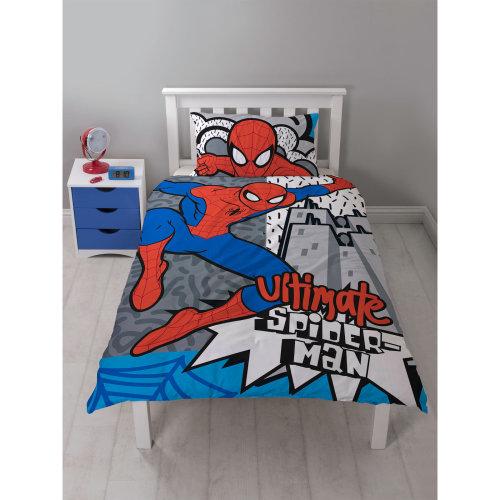 Marvel Spiderman Hang Single Duvet Cover Quilt Cover Bedding Set Polycotton