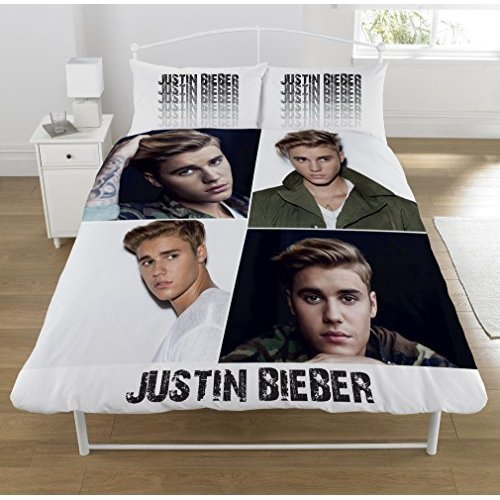 Justin Bieber 'montage' Double Duvet Set, Multicolour -