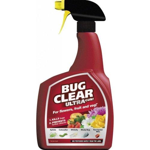 Bug Clear Ultra 1 litre Spray For Flowers, Fruit&Veg, Kills & Prevents