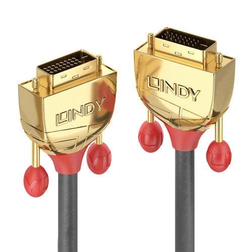 Lindy 36206 DVI cable 10 m DVI-D Gold