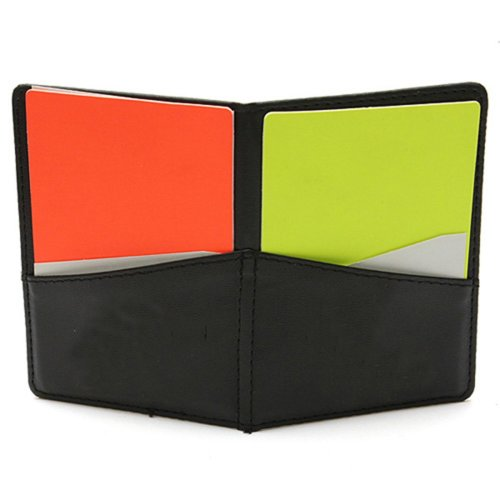 Soccer Football Match Referee Wallet With Orange Card And Yellow Card