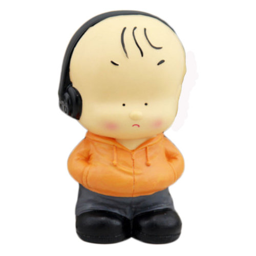 Pretty Cute Home Decor Ornament Money Banks Coin Banks, Boy With Earphone