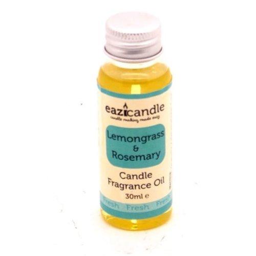 EaziCandle Fragrance Oil 30ml - Lemongrass & Rosemary