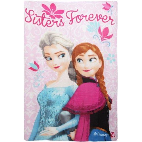 Disney Frozen Sisters Forever Character Fleece Blanket Throw