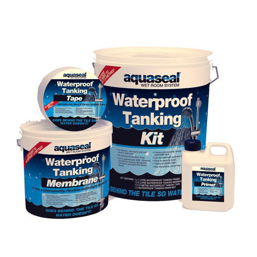 Everbuild Aquaseal Wet Room Waterproof Tanking System Kit 4.5 Sq Metre Standard