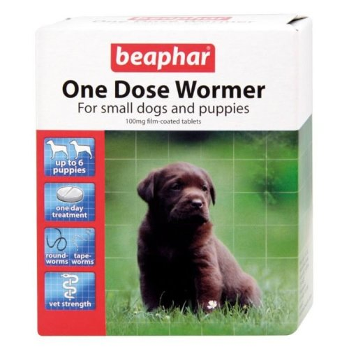 Beaphar One Dose Wormer For Dogs | Dog Worming Tablets