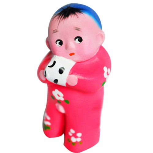 2 Pcs Creative Decoration Clay Sculpture Chinese Clay Doll Cute