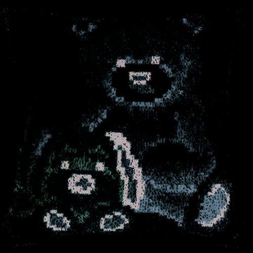 "Latch Hook Cushion Cover Kit""Teddy and Dog"" 43x43cm"