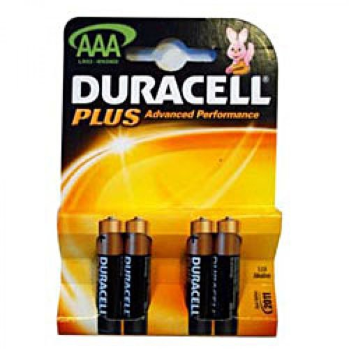 Duracell Plus Alkaline 4 Batteries AAA Size - Pack of 10 (40 Batteries in total) MN2400PLUS-B4
