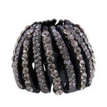 Luxurious Rhinestones Hair Ponytail Clip Hair Bun Decor Hair Accessories, No.2