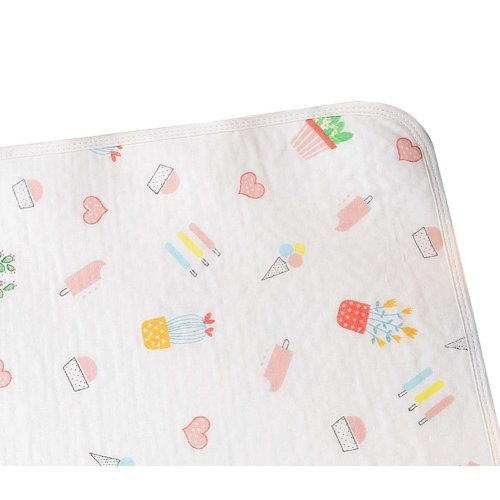 Cotton Washable Baby Diaper Changing Pad Diaper Pad 1 piece, 50x70cm, NO.005