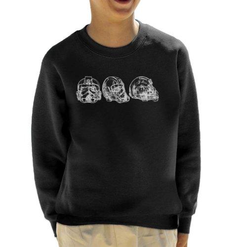Original Stormtrooper Imperial TIE Pilot Helmet Abstract Kid's Sweatshirt