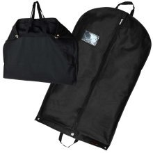 "3 Black Suit Carriers Travel Clothes Cover Garment Bag 40"" Hangerworld"