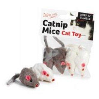 Sharples Ruff 'N' Tumble Catnip Mice 4 Pack