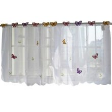Sweet Embroidered Curtain Kitchen Curtain Coffee Screens- 04