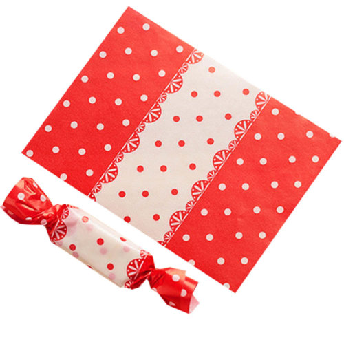 500PCS Candy Wrappers Caramel Wrappers Packaging Bags Twisting Wax Paper 9x12.5cm, Q