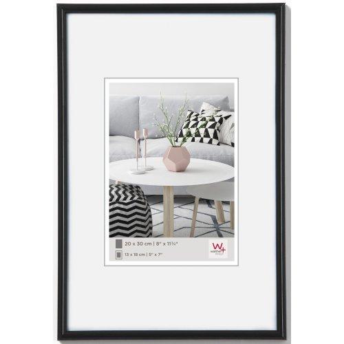 walther design KB075H Galeria picture frame, 19.75 x 29.5 inch (50 x 75 cm), black