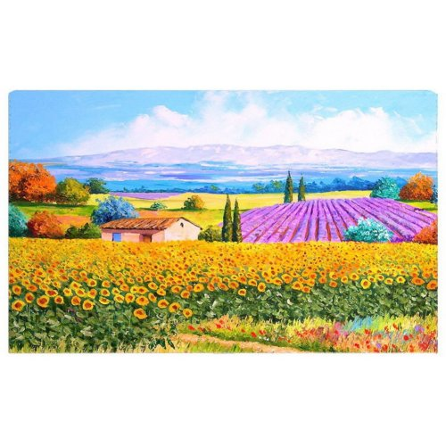 Home Creative 50-Inch TV Cloth Decorative Dustproof Cover, Fields And House