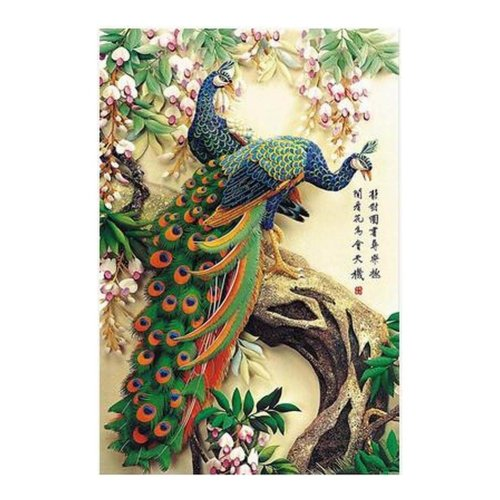 [Peacock] 1000 Piece Wooden Jigsaw Puzzles Classic Jigsaw Puzzles Toy