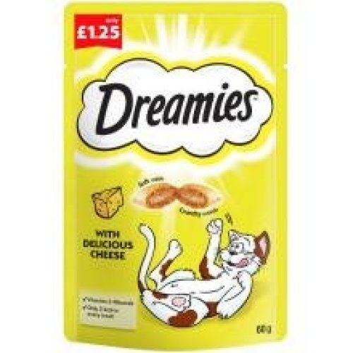 Dreamies Cheese Pm £1.25 (60g) (Pack of 8)