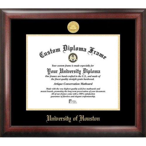 University of Houston  Gold Embossed Diploma Frame