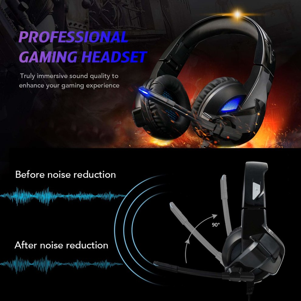 Stereo Gaming Headset for PS4, PC, Xbox One Xbox 360 Controller