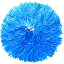 2 of Blue Team Sports Cheerleading Poms Match Pom Plastic Ring